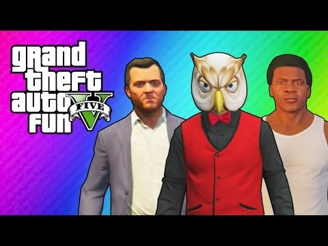GTA 5 Online: Franklin's & Michael's House (Ball Hunt Mini Game & Funny Moments) - VanossGaming  - PYG-bwNybMY -