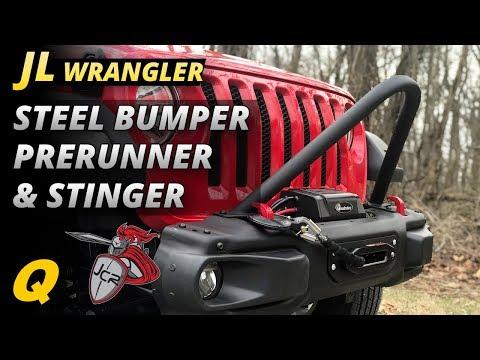 JCR Offroad Stinger and Prerunner Tube for 2018 Jeep Wrangler JL Rubicon Steel Bumper