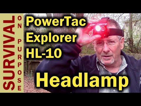 PowerTac Explorer HL-10 Headlamp - This One Is Different