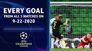 Every Goal from 09/22/2020 | Champions League highlights | UCL on CBS Sports