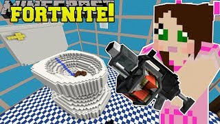 Minecraft: GIANT TOILET - FORTNITE BATTLE ROYALE - Modded Mini-Game