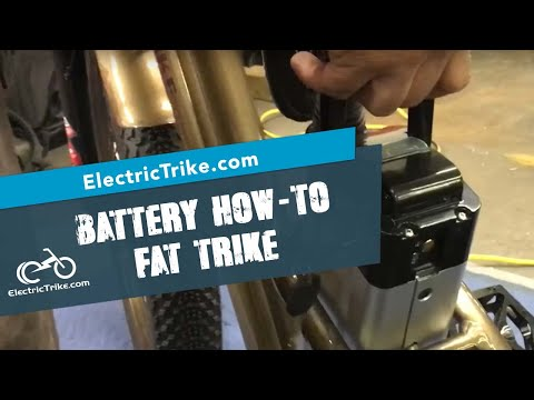 Electric fat trike - removing battery, charging, and turning off and on