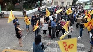 CPERS realiza protesto em frente à Câmara de Vereadores de Camaquã