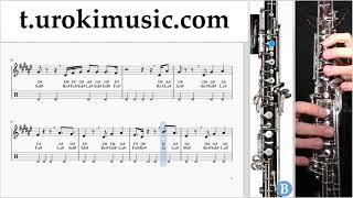 หัดเล่นโอโบ Janet Jackson x Daddy Yankee - Made For Now ตัวโน๊ต สอนเล่นโอโบ um-ih796