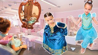 First DAY at the PRINCESS SALON!!! We woke up in a Princess Castle!