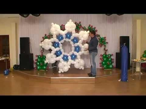 Дед мороз из воздушных шаров своими руками