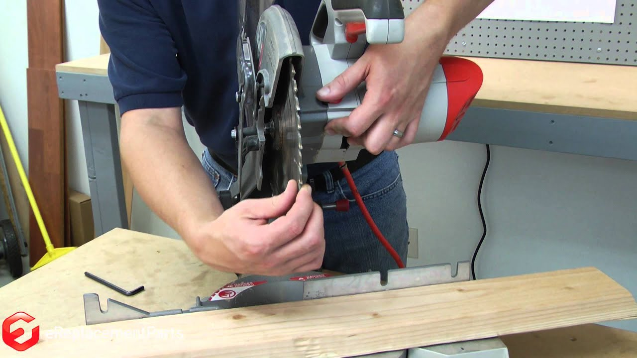 How To Replace The Blade On A Miter Saw A Quick Fix Youtube