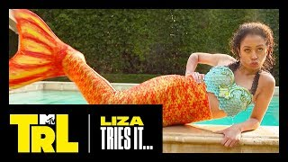 Liza Koshy & Gabbie Hanna Become Mermaids IRL | Liza Tries It | TRL