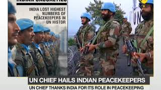 UN chief thanks India for support to peacemaking..