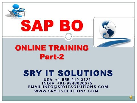 SAP BO ONLINE TRAINING | SAP BO LIVE DEMO | SAP BO PROJECT SUPPORT | SAP BO OVER VIEW