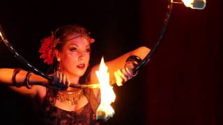 Gaea Lady ::  Fire Hoop Bellydance at the Show Me Burlesque Festival 2015