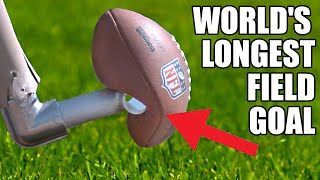 World's Longest Field Goal- Robot vs NFL Kicker