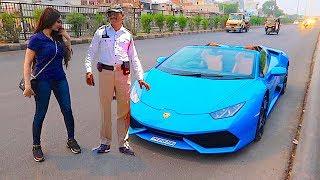 India Police pulled me over in a Lamborghini ...