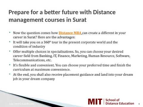 Distance Management Courses | MBA Distance learning | Distance MBA in Surat | MIT School Of Distance Education