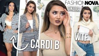TRYING ON CARDI B X FASHION NOVA CLOTHING... SIS HOW MUCH!?