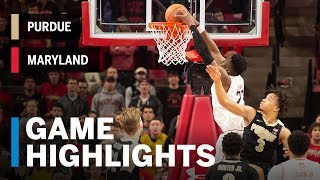 Highlights: Purdue at Maryland | Big Ten Basketball
