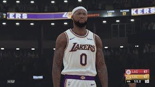 NBA 2k19 - Clippers vs Lakers | NBA 2k20 Updated Roster! AD, Kawhi, PG, Cousins!