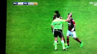 Fallo di Mano Scandaloso di Seedorf Rigore NON dato al Bologna dall'Arbitro Rocchi!