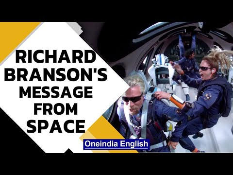 Inside video: Richard Branson shares message from space
