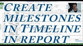 MS Project #5 : Learn To Create/Use Milestones, in Timeline, Reports ● Complete  ●  Creativity