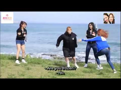 TWICE Playing Freeze Tag Game [FUNNY]