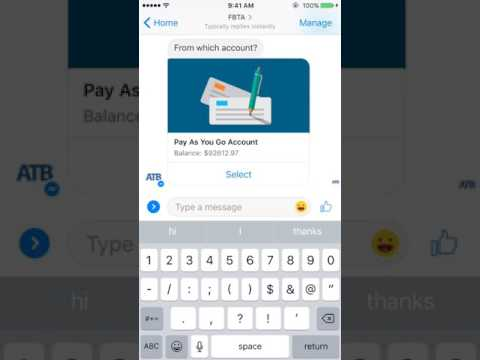 Video: ATB Chatbot banking demo