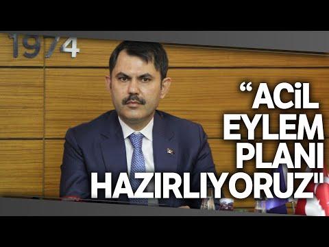 """Çevre ve Şehircilik Bakanı Kurum'dan """"Müsilajın"""" Açıklaması"""