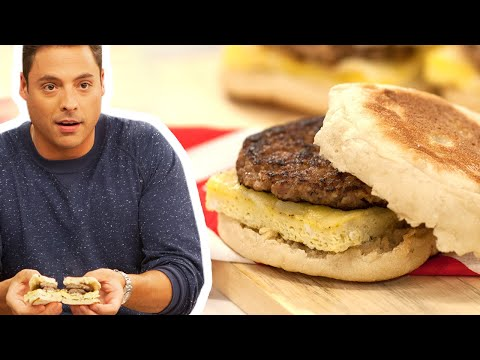 FULL SEGMENT: Jeff Mauro Makes a Sausage Egg McMuffin | Food Network