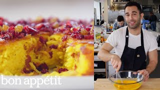 Andy Makes the Crispiest Saffron Rice Cake | From the Test Kitchen | Bon Appétit