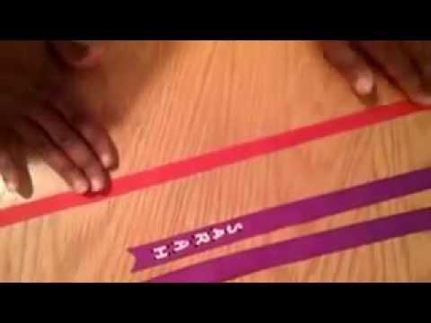 Puff Paint Hair Ribbons