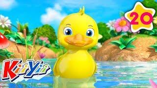Counting 5 Little Ducks   KiiYii   Baby Videos   Fairy Tales and Stories   Moonbug TV