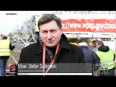Manifestacja pracowników WZU