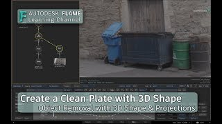 Create a Clean Plate with 3D Shapes & Projections - Flame 2019