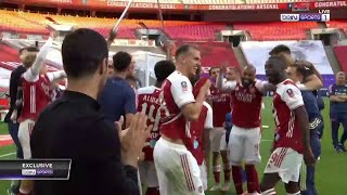 Arsenal celebrate at full-time after FA Cup win | FA Cup 19/20 Moments