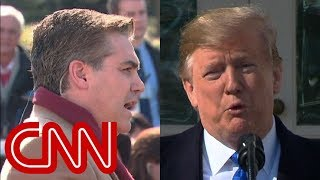 Trump neglects to answer Jim Acosta's immigration question