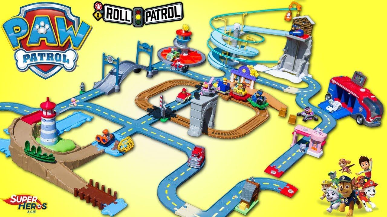 Paw Patrol Roll Patrol Mega Pack 6 En 1 Pat Patrouille Piste