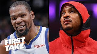 An injured KD is worth more than any Knicks player ever, including Melo - Stephen A. | First Take