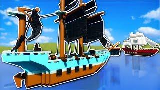 PIRATE SHIP BATTLE! - Brick Rigs Multiplayer Gameplay - Lego pirate ship battle