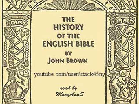 The History of the English Bible - John Brown (Christian audiobook)