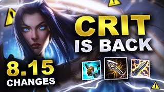 Huge Crit Buffs! New changes coming soon in Patch 8.15 (League of Legends)