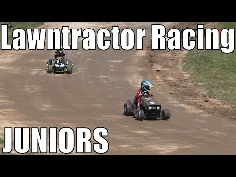 Junior Class Lawntractor Racing At Western Ontario Outlaws July 7 2019 - Round 2