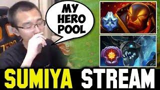 Sumiya talks about his Hero Pool ft vs Master Tier Visage   Sumiya Invoker Stream Moment #264