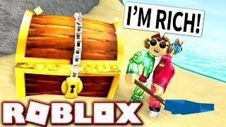 DIGGING FOR BURIED TREASURE!! (Roblox Treasure Hunt Simulator)