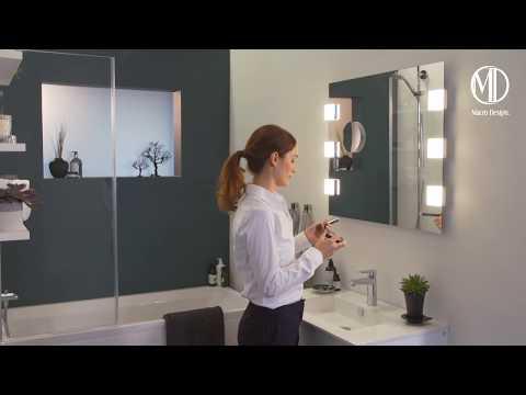 Macro Design - utdragbar badrumsspegel