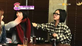 Mother Soyeon, baby Jiyeon, grandma Hyomin and Eunjung, and the age-gap couple