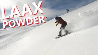 LAAX POWDER FIELDS SNOWBOARDING