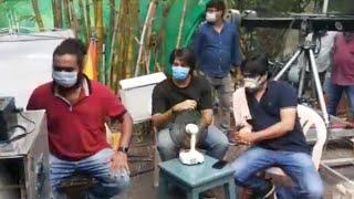 Kalyan Dhev's Super Machi movie song shooting..