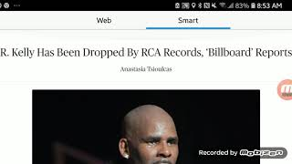 R Kelly has been dropped by his record label RCA records.