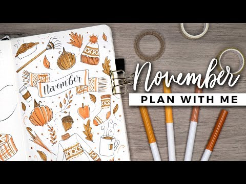 PLAN WITH ME | November 2018 Bullet Journal Setup