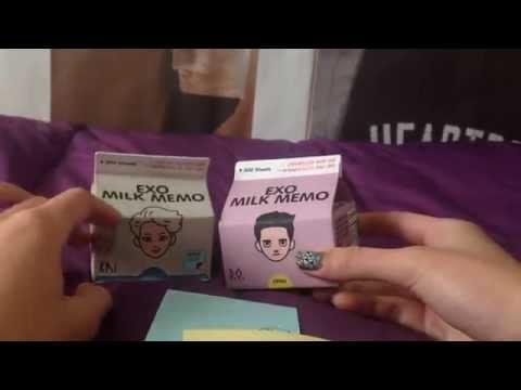 Unboxing EXO's D.O.  Milk Memo (SM COEX Artium official goods)